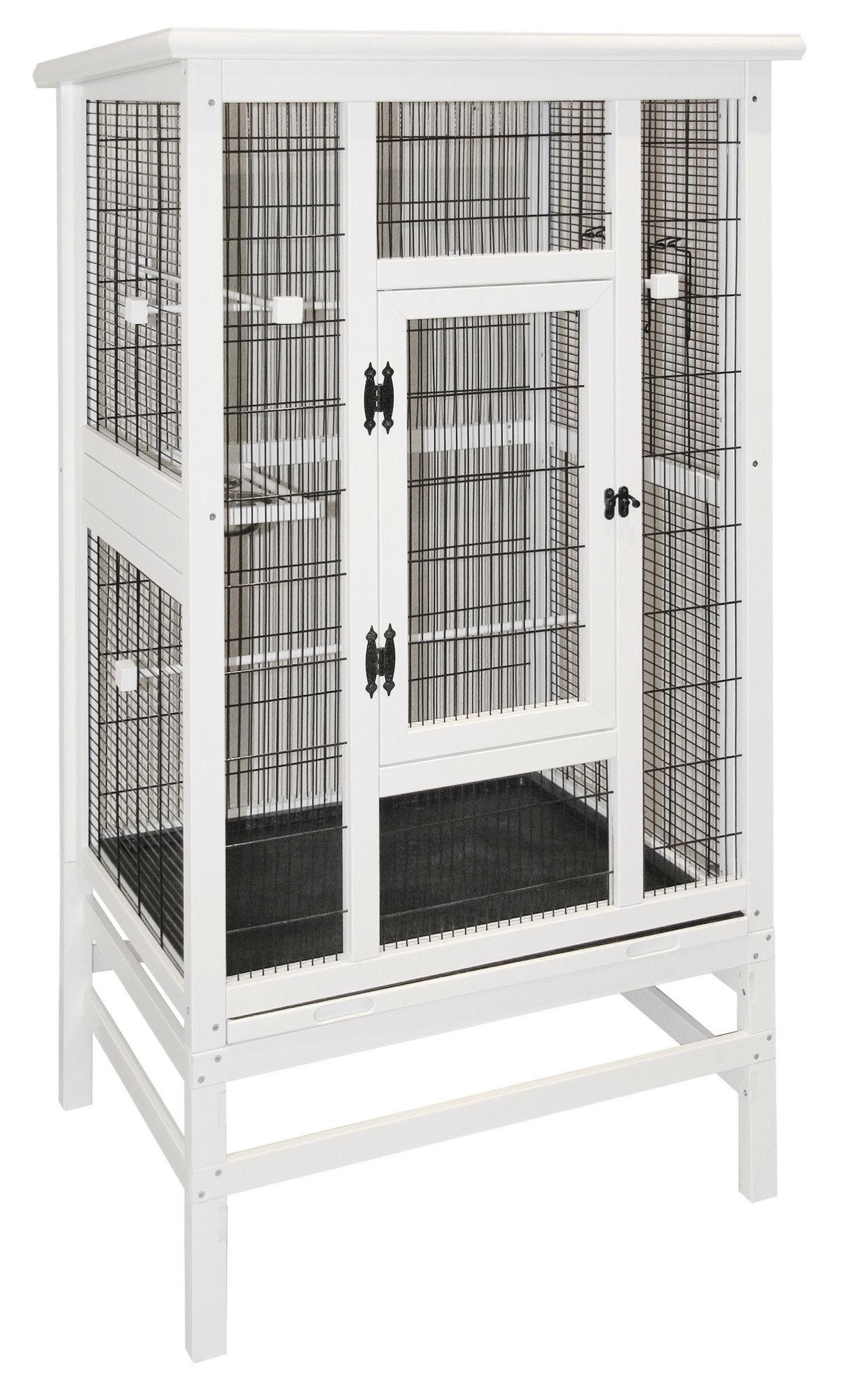 Vogelvoliere aus Holz 82 x 67 x 151 cm