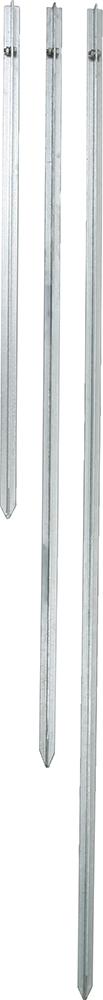 Erdstab verzinkter T-Stahl, inkl. Edelstahlklemmschraube