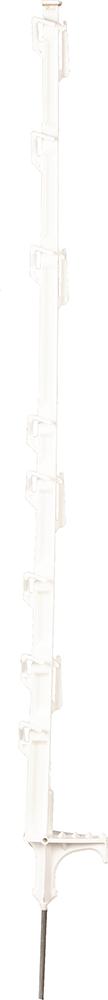 DrehFix-Kunststoffpfahl, 1,05 m, weiß, 8 Drahthalter (10 Stück / Pack)