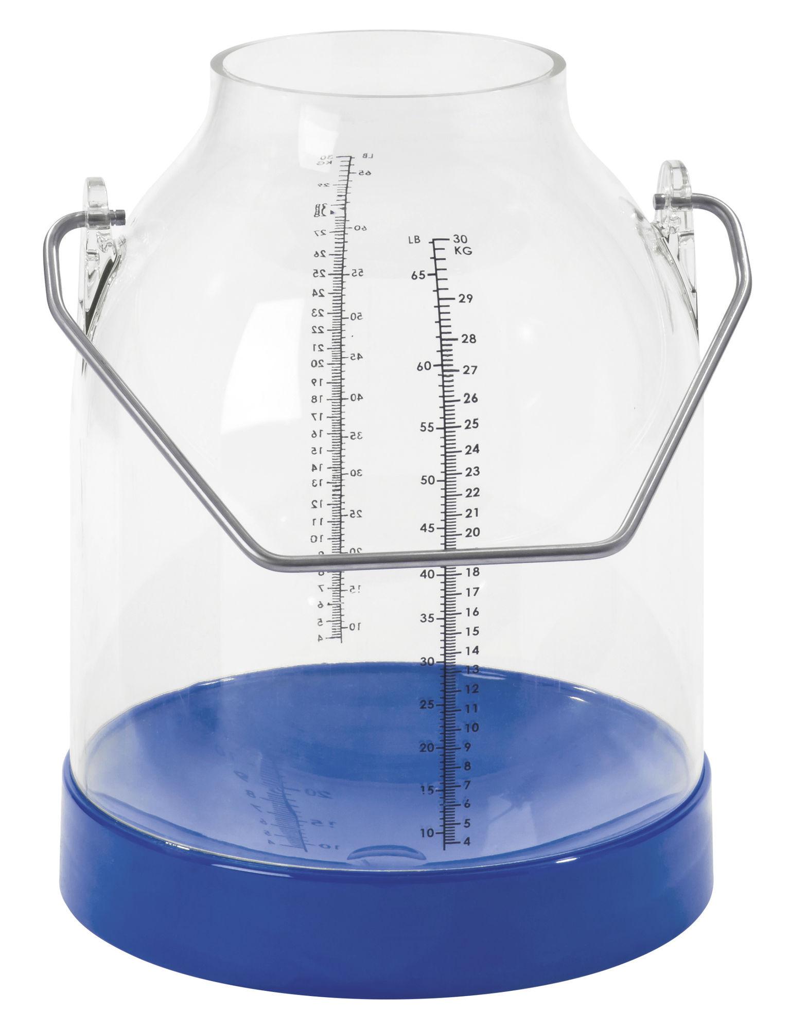 Melkeimer 30 Liter mit Skala blau, Bügelhöhe 117