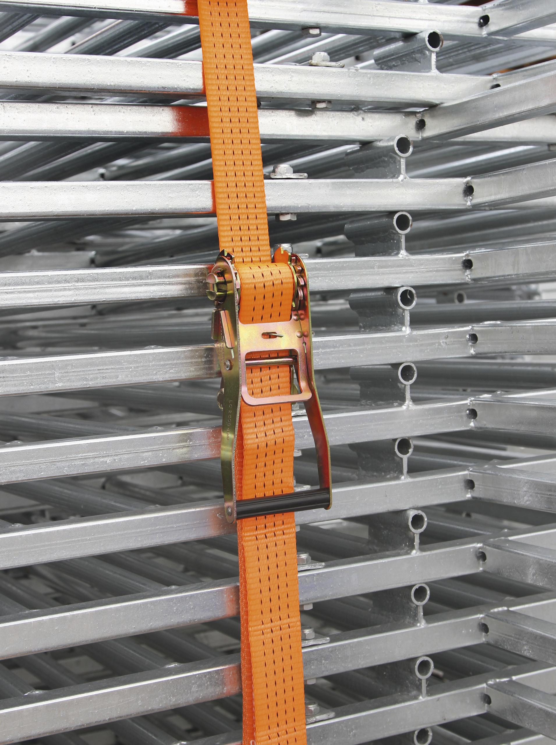 Ratschenzurrgurt zweiteilig 50mm / 15m, Zurrkraft 4000 kg