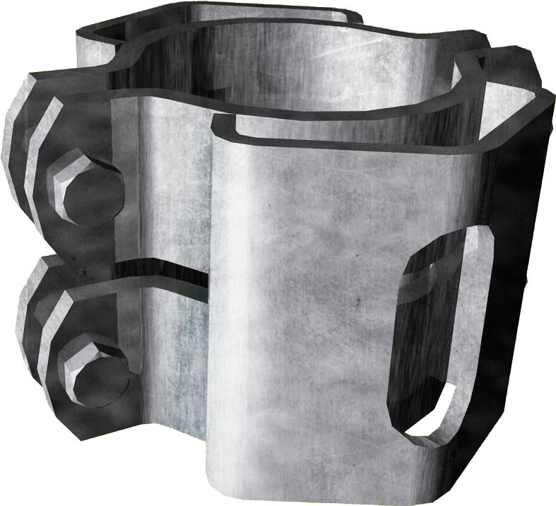 Schelle d=102 mm, mit 2 Riegelhalter RS