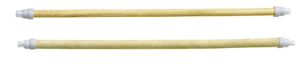 Holzsitzstangen 4 Stck. 45cm 2x  10mm, 2x  12mm