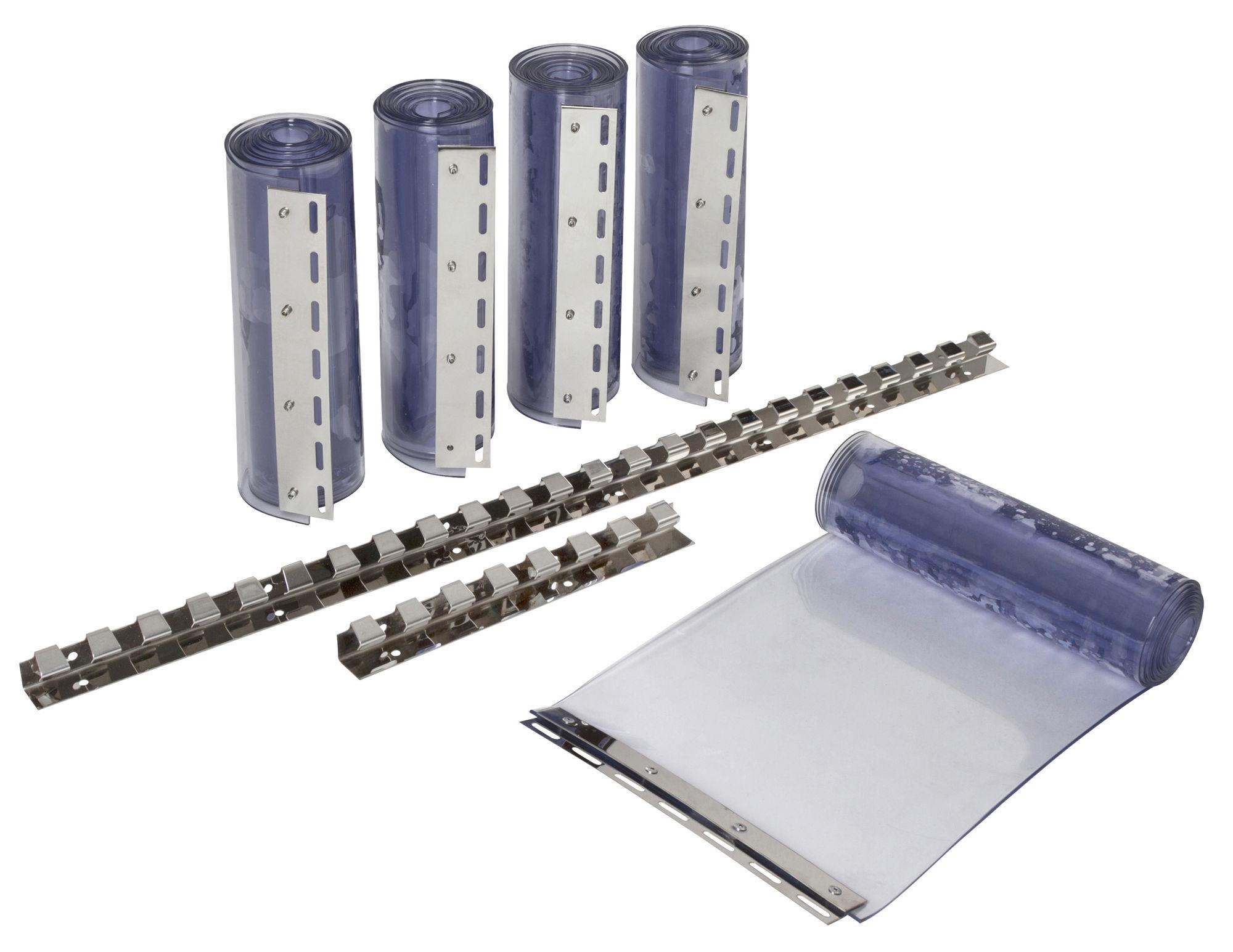 PVC-Streifenvorhangset 300 transparent 300x3mm, 225cm