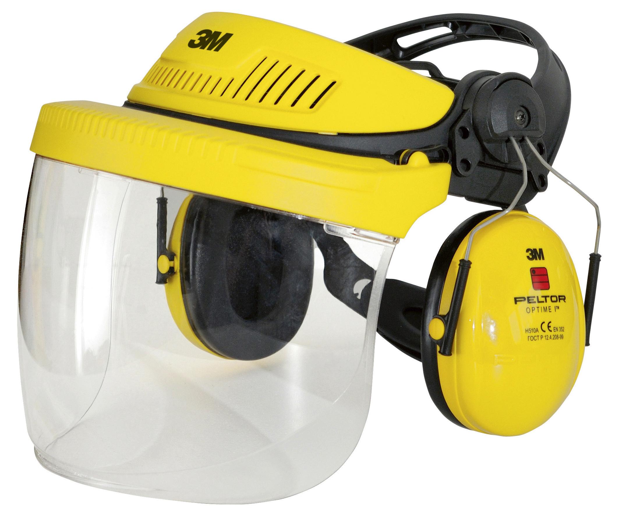 Kopfhalterung G500 mit Klapp- visier und Gehörschutz OptimeI