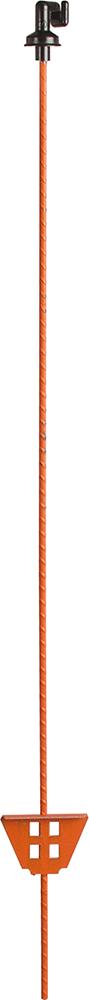 Federstahlpfahl rund, 1,05 m, mit Kunststoff-Öse
