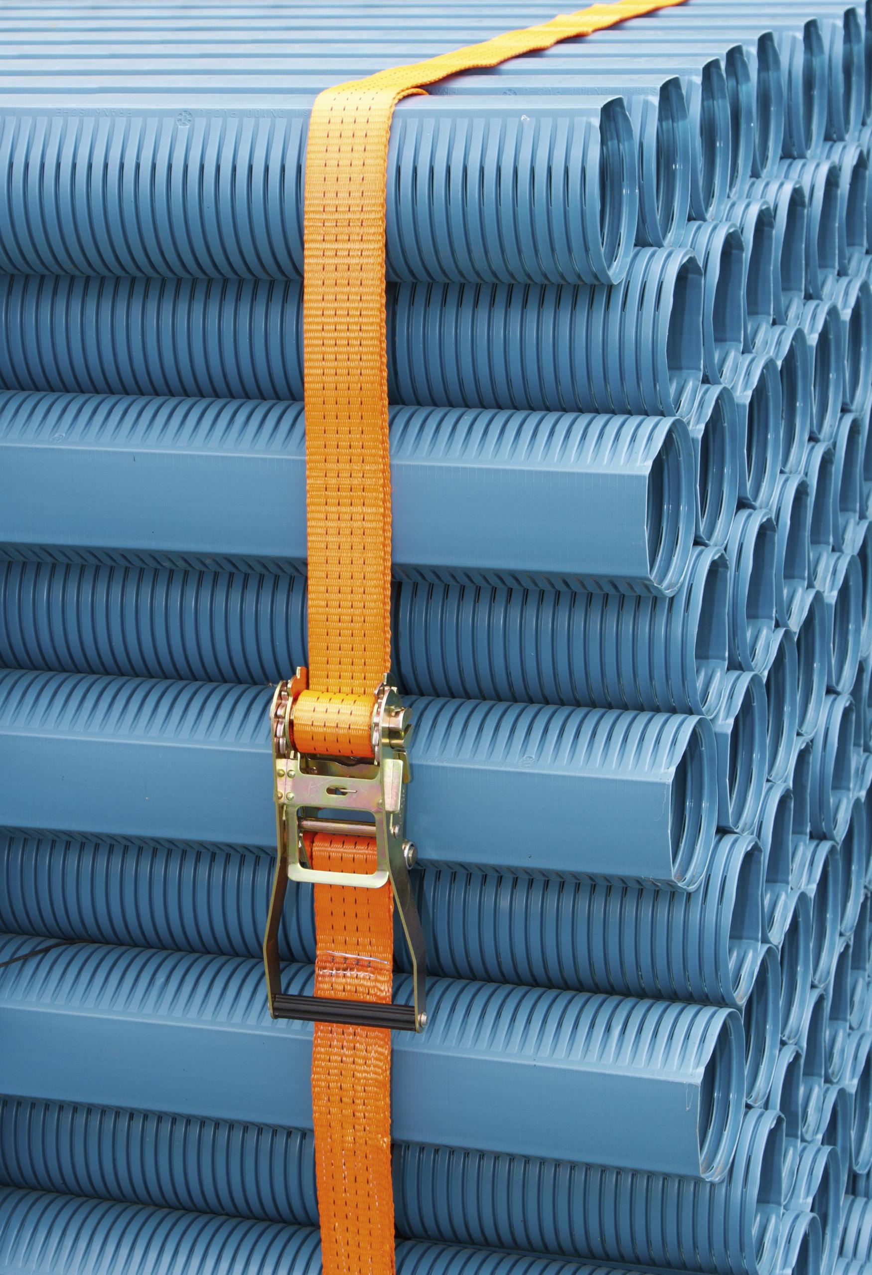 Ratschenzurrgurt 2-tlg. orange Aufdruck, 50 mm / 30m, 4000kg