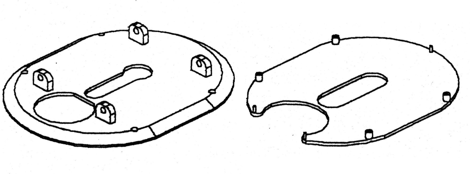 Sägeaufsatz ohne Sägeblatt nur für Winkelschl. m. 3 Gewinden
