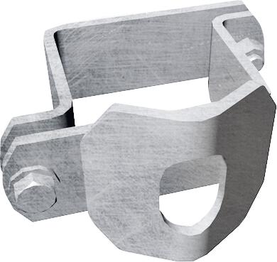 Schelle Quadrat 90 mm, 2 Riegelhalter TS, parallel