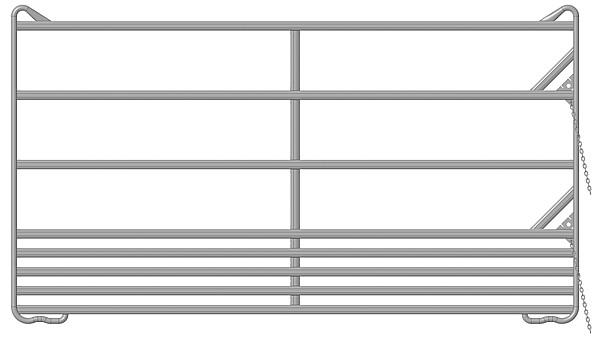 Sicherheits-Pferde-Panel 3,00 m
