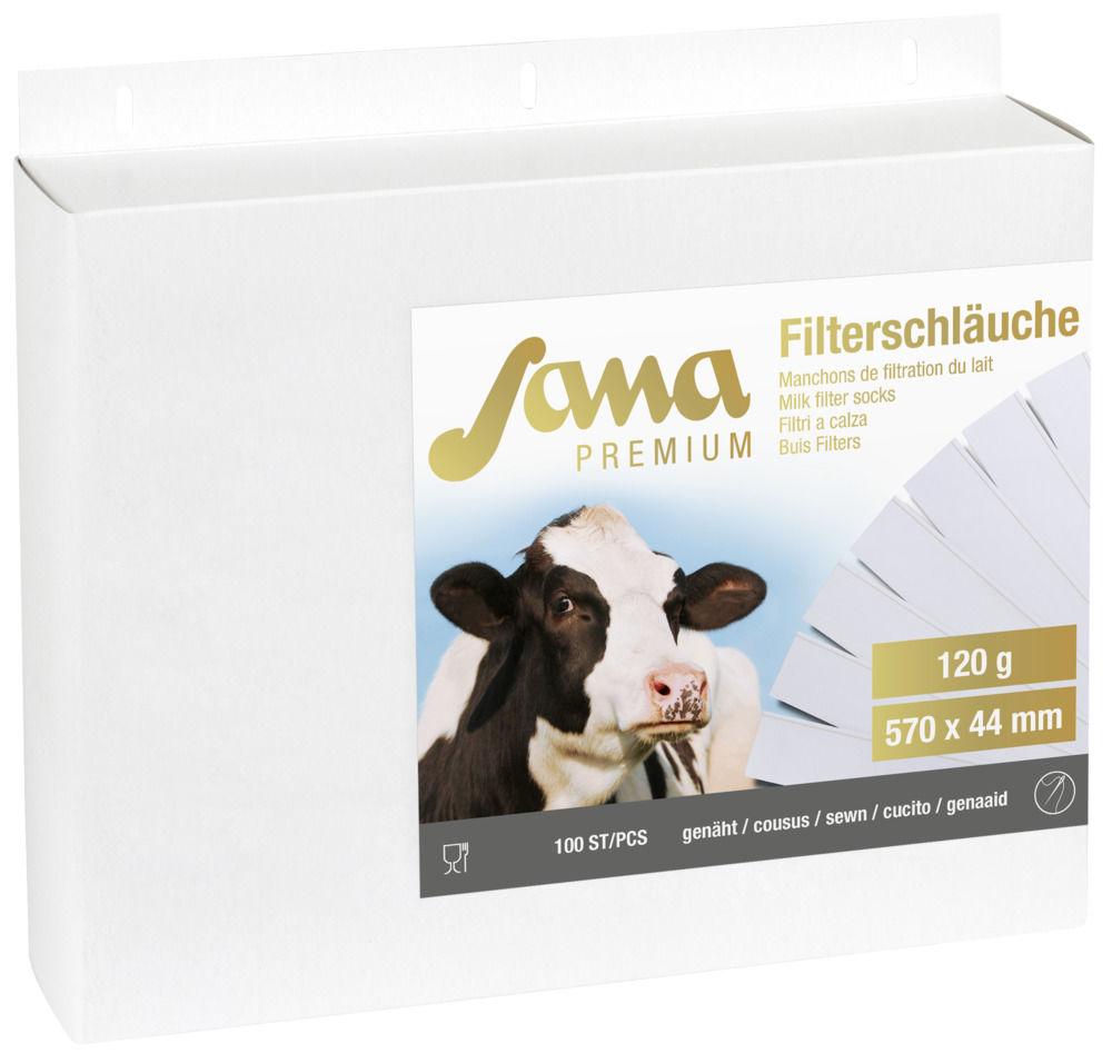 Milchfilter Sana Premium 120gr 1125 x 78, genäht, 100Stk