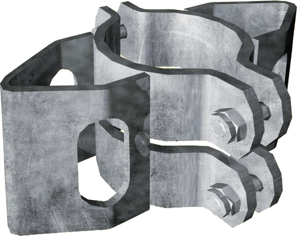 Schelle d=102 mm, mit 2 Riegelhalter RS parallel