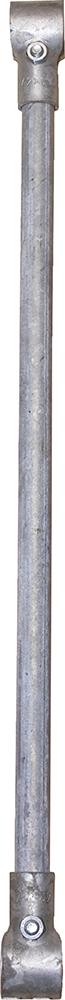 Zwischenstange mit 2 T-Schellen für Kälberfressgitter Modular