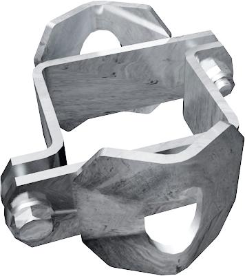 Schelle Quadrat 90 mm 2 Riegelhalter RS