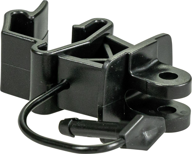 Standard-Isolator mit Stift, schwarz, für T-Pfosten