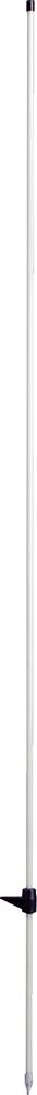 Glasfiberpfahl 1,60 m, mit Trittstufe d=10mm (10 Stück / Pack)