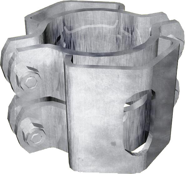 Schelle d=76 mm, 2 Riegelhalter RS