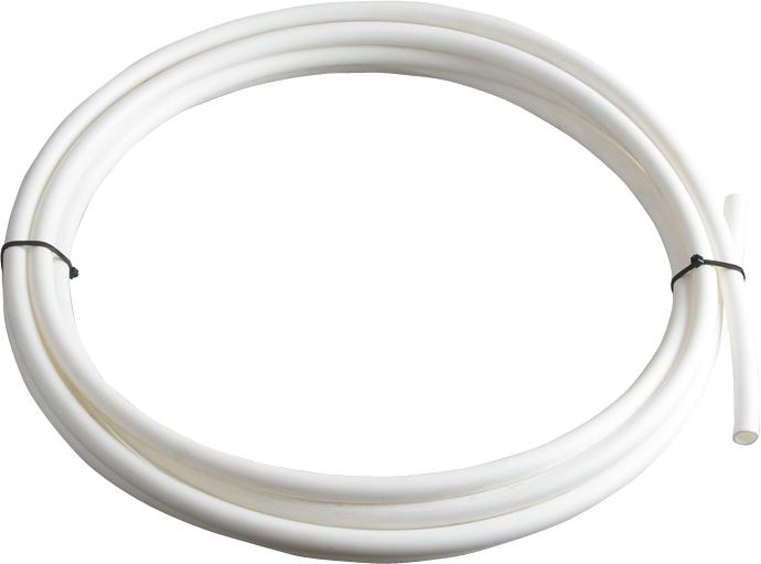 Kunststoffisolierschlauch, weiß, für Seile bis 6 mm  (5 Meter / Pack)