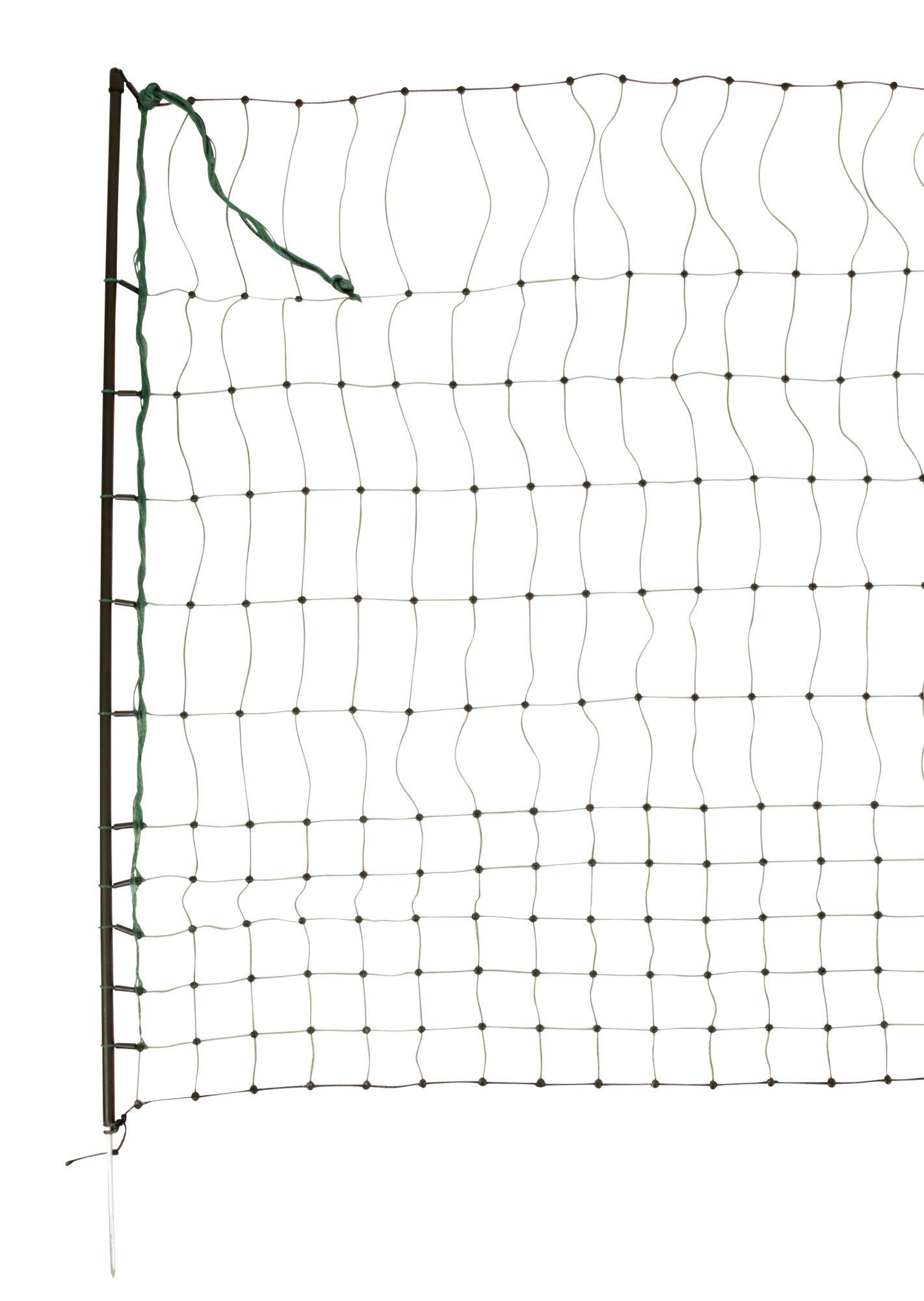 Geflügelnetz 50 mtr., 112 cm Einzelspitz, grün, ohne Strom