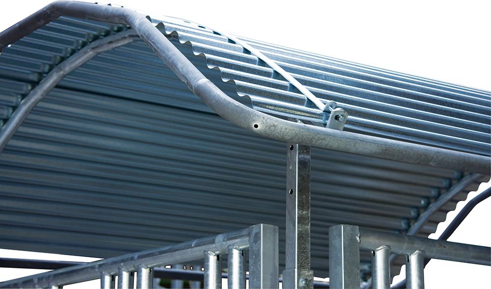 Dachkanten-Schutzbügel, umlaufend, für Großballenraufen 3 x 2 m, vz