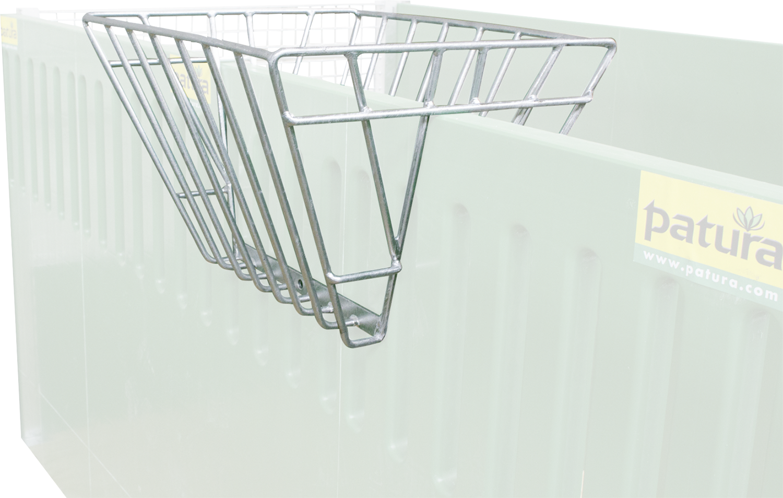 Heuraufe zum Aufstecken auf Wände bzw. auf Rohre bis 50 mm