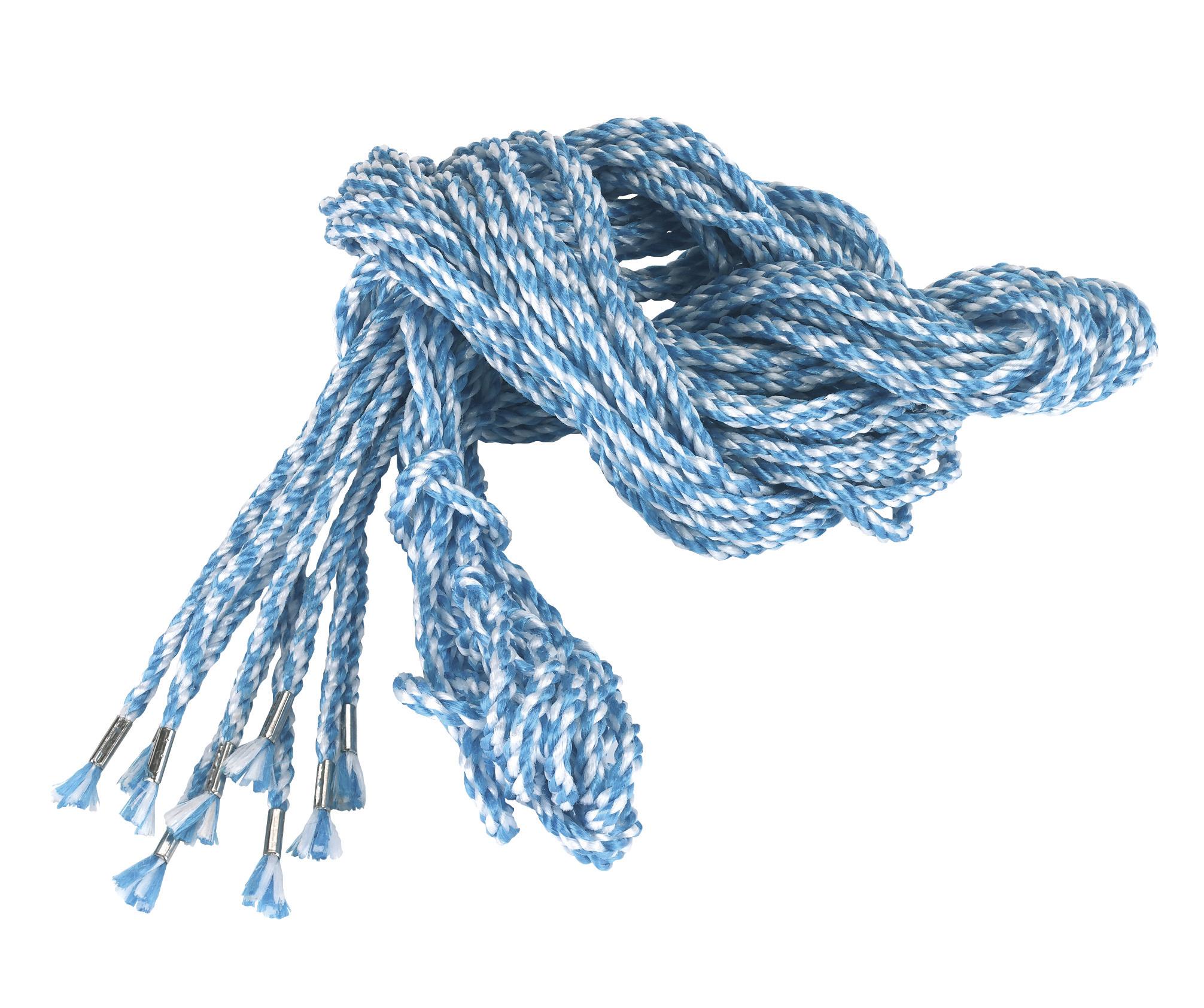 Gerüststrick  10-er Pack blau-weiß 2,5 m  -- 8mm stark