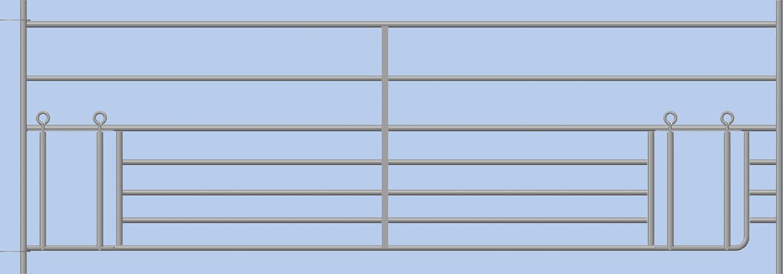 Steckfix-Horde, mit doppeltem Lämmerschl B= 2,75m Höhe 0,92 m