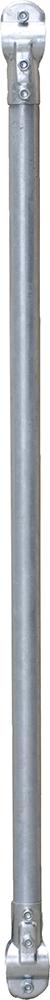 Gitterstab d = 48,3 mm, mit 2 verstärkten T-Schellen (341213)