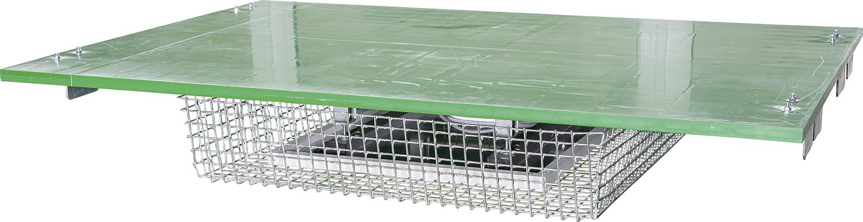 Abdeckung Kälberbox mit Wärmeplatte inklusive Halterahmen und Schutzkorb