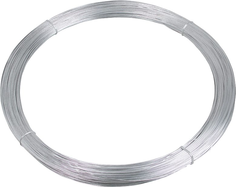 Tornado-Stahldraht, d= 2,5 mm, dick verzinkt, alulegiert, 25 kg Rolle