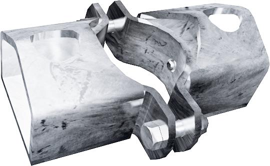 Schelle d=76 mm, 2 Riegelhalter TS
