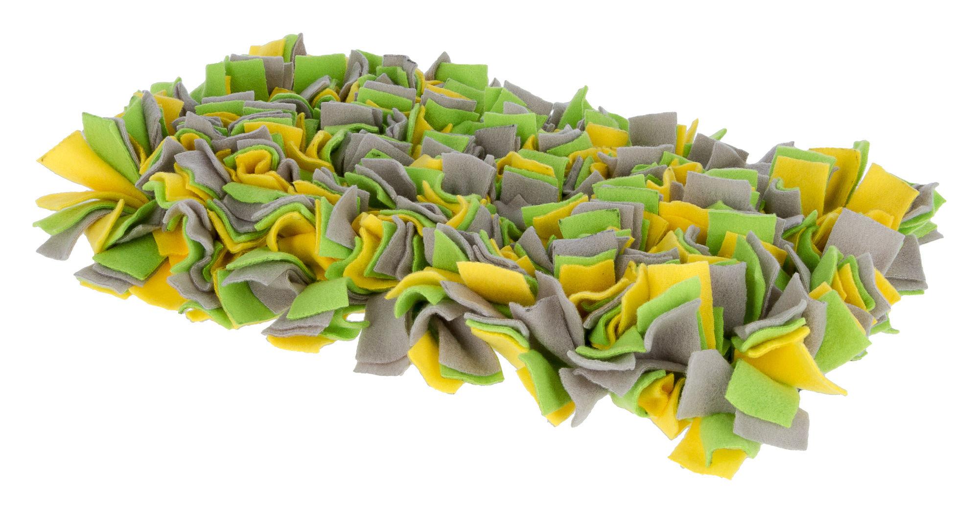 Schnüffelteppich gelb/grün/ grau, 50x30cm