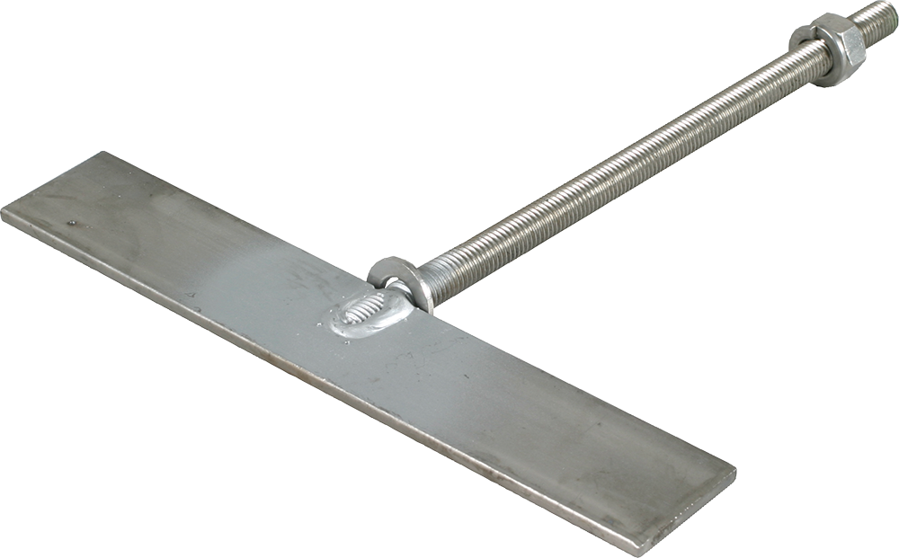 Spaltenanker M12x235 mm, Edelstahl, inkl. Mutter, Federring und Senkscheibe
