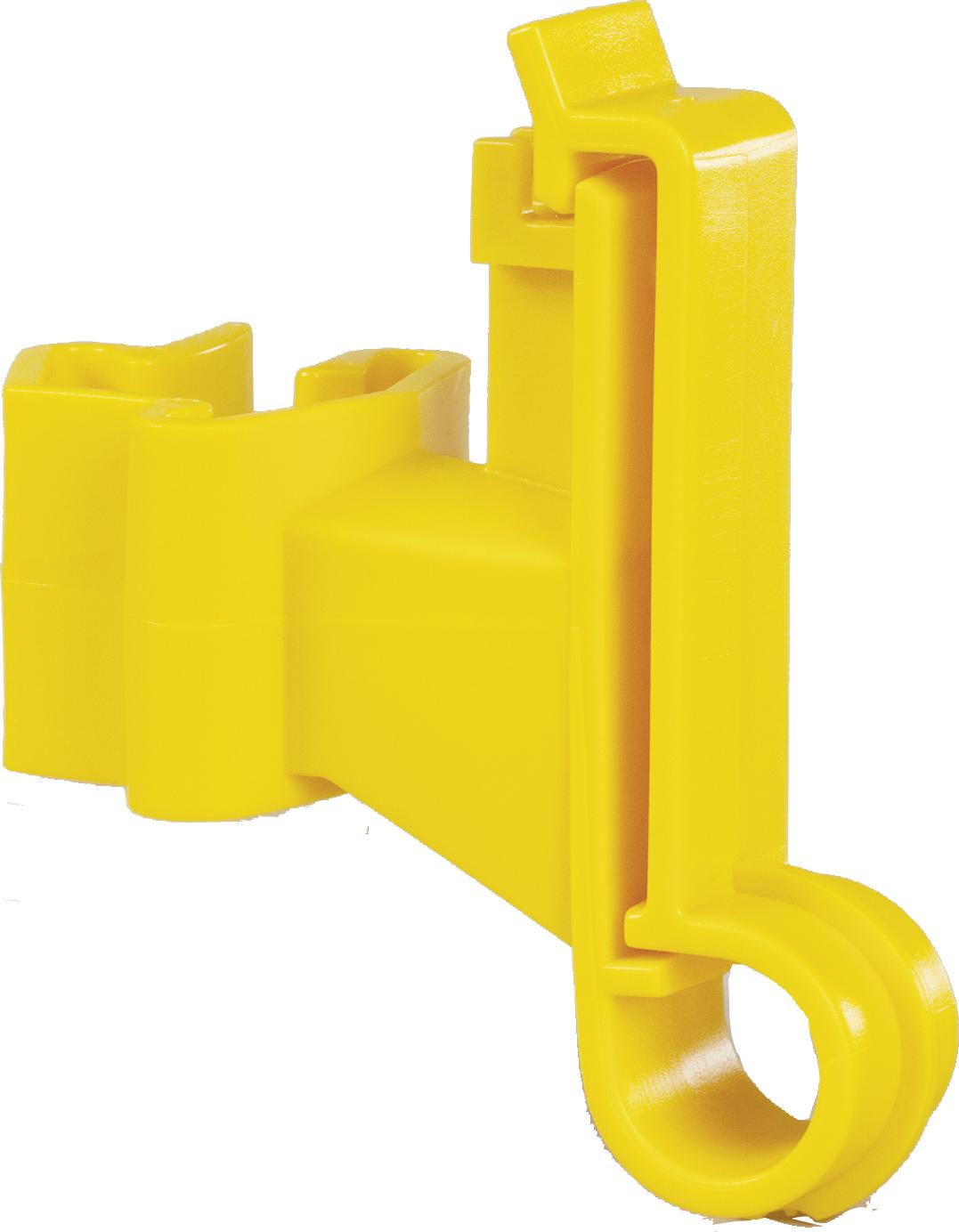 Breitband-Isolator für T-Pfosten, gelb