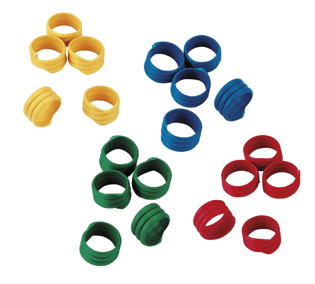 Spiralring 12mm, Kunststoff, farblich gemischt, 100St./Pack