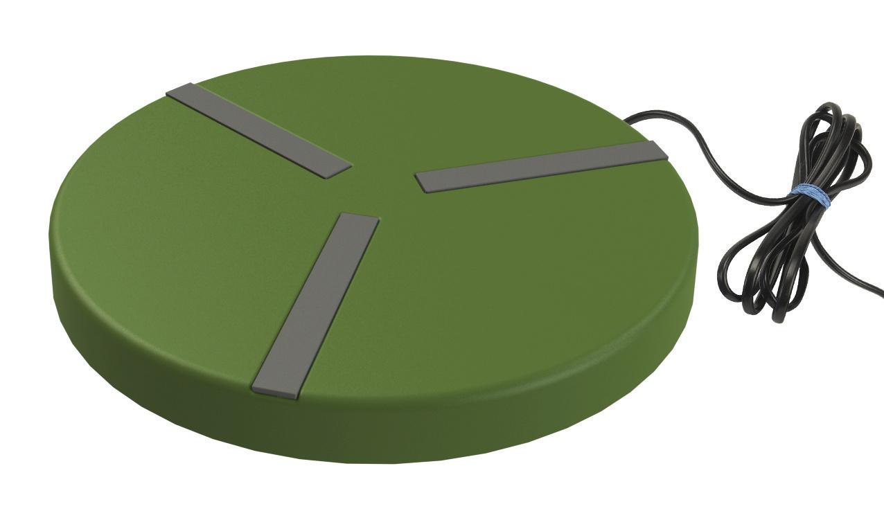 Heizplatte für Geflügeltränken Ø250mm; 24V, 15W, mit Netzteil
