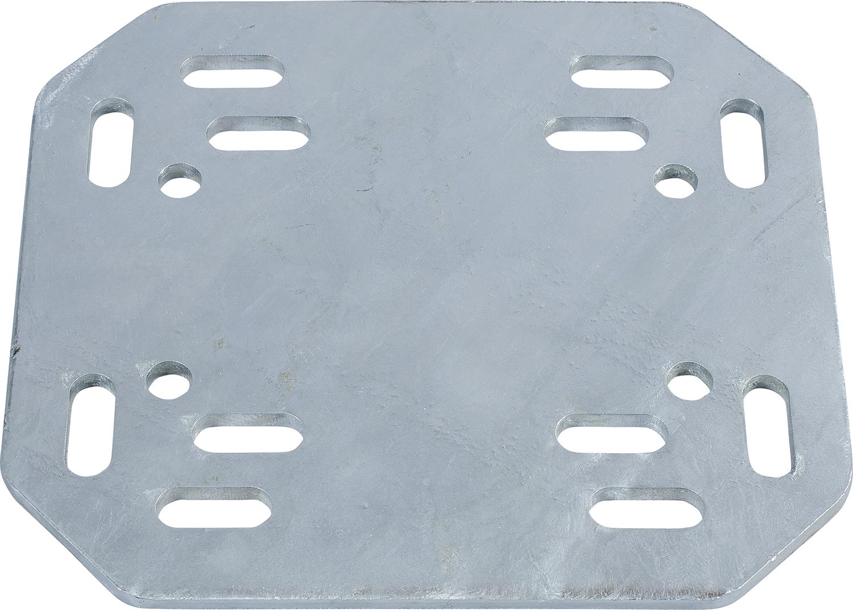 Adapterplatte Universal für Pfosten-Rohrverbindung