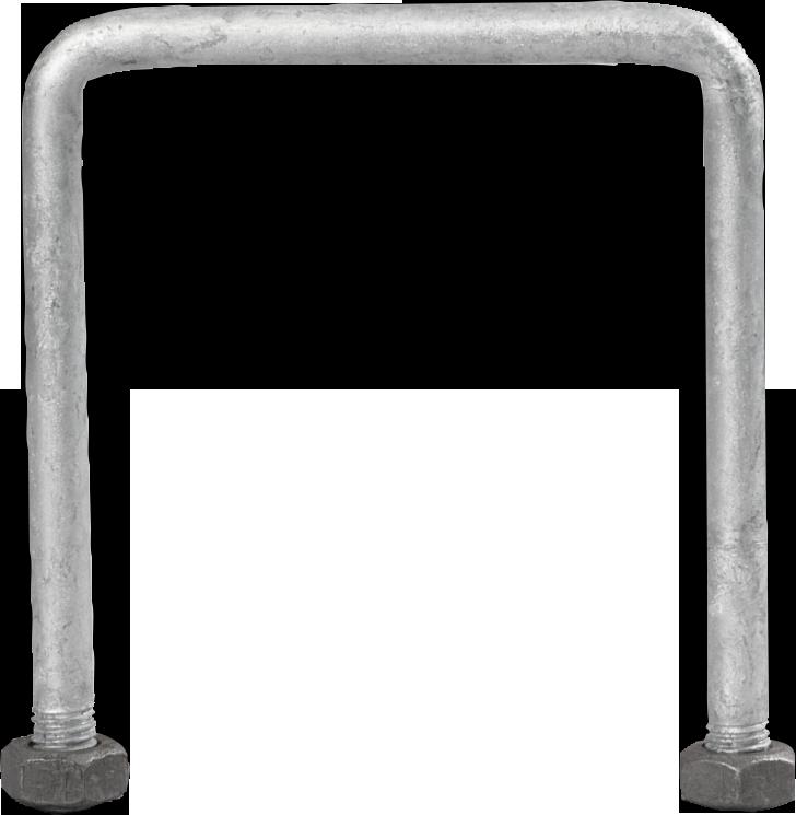 Bügelschraube für Quadratpfosten 90 mm M10