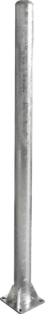 Pfosten d=102 mm, Bodenplatte 200x200 mm ohne Halter