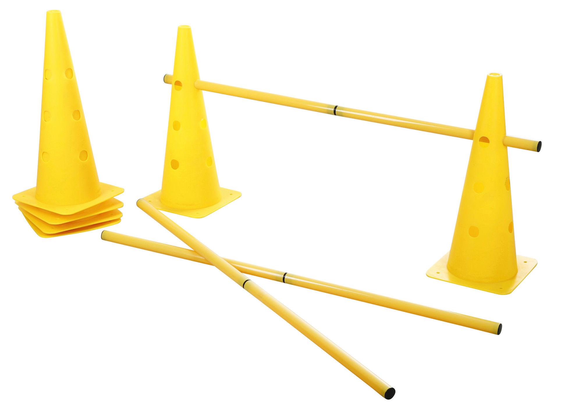 Agility Pylonen-Hürden Set, gelb, 3 Hürden