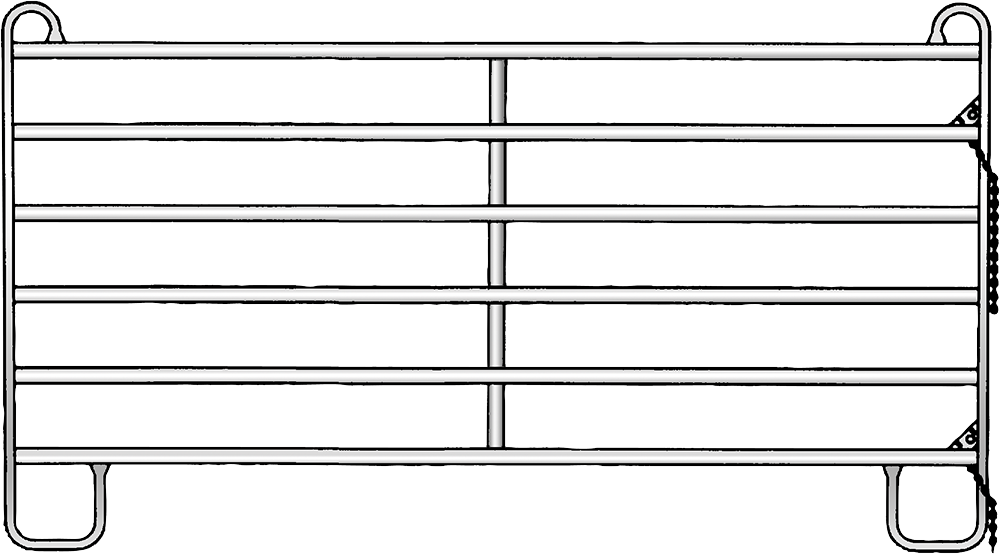 Panel, Standard Höhe 1,75 m, verzinkt