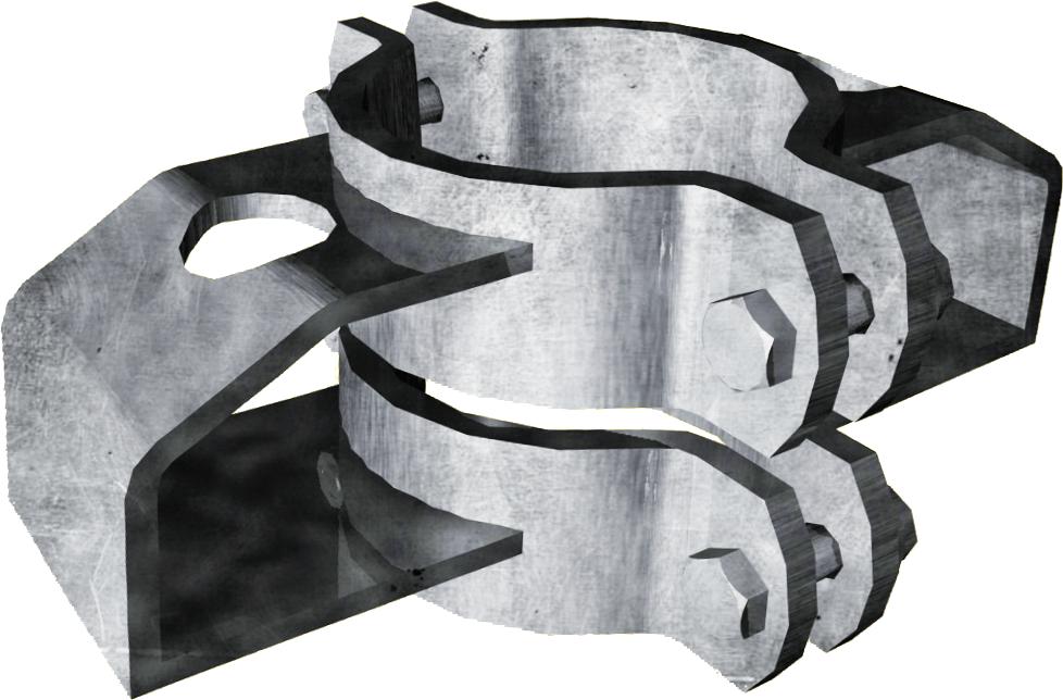 Schelle d=102 mm, mit 2 Riegelhalter TS parallel