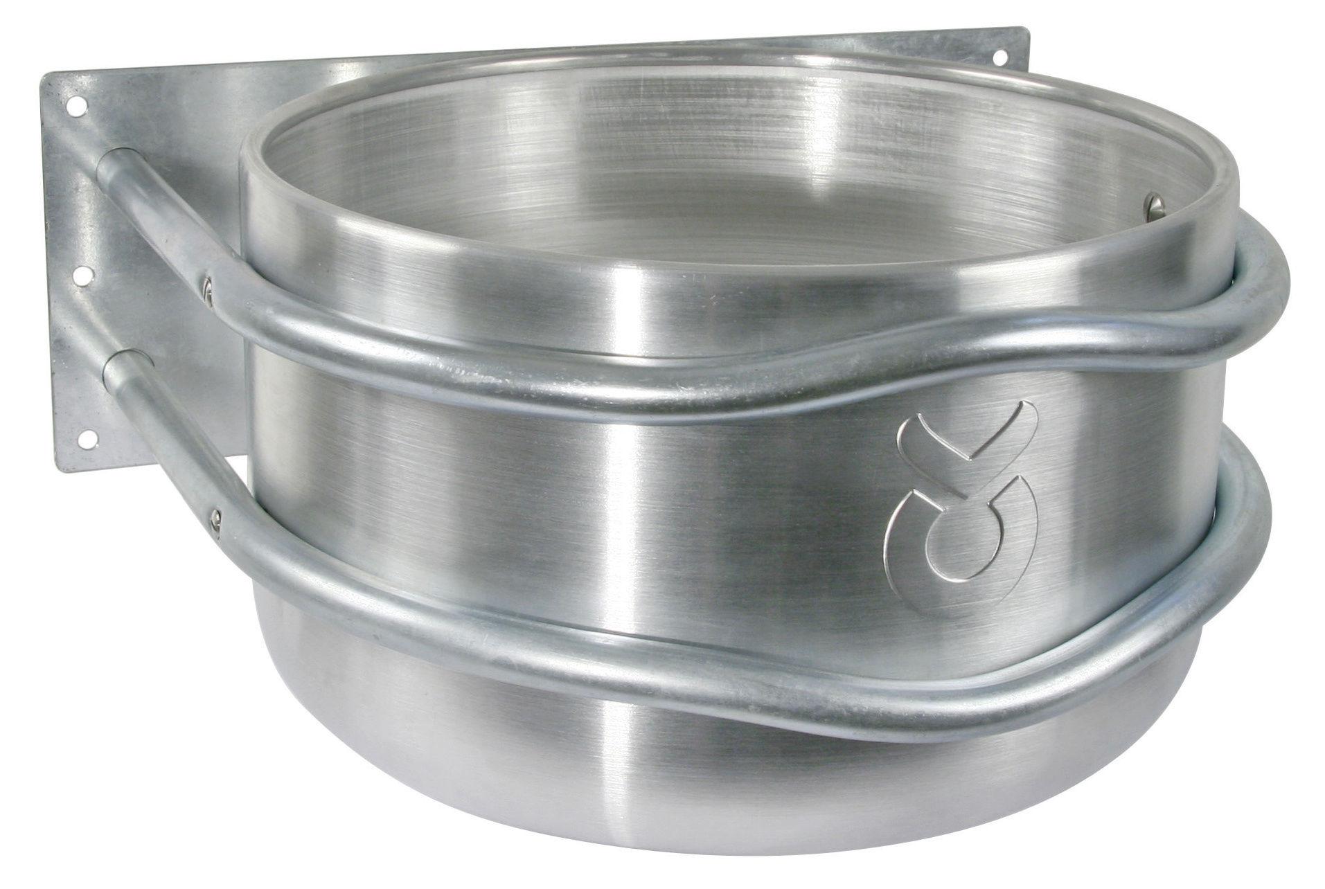 Futtertrog Aluminium, ca. 18l, mit Ablauf