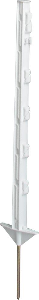 Robinienpfahl, halbiert, d= 13-15 cm, gefast, 3-fach gespitzt,