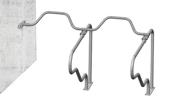 Kreuzklemme Nackenrohr 60 x 48 mm zur Montage auf Liegeboxenbügeln