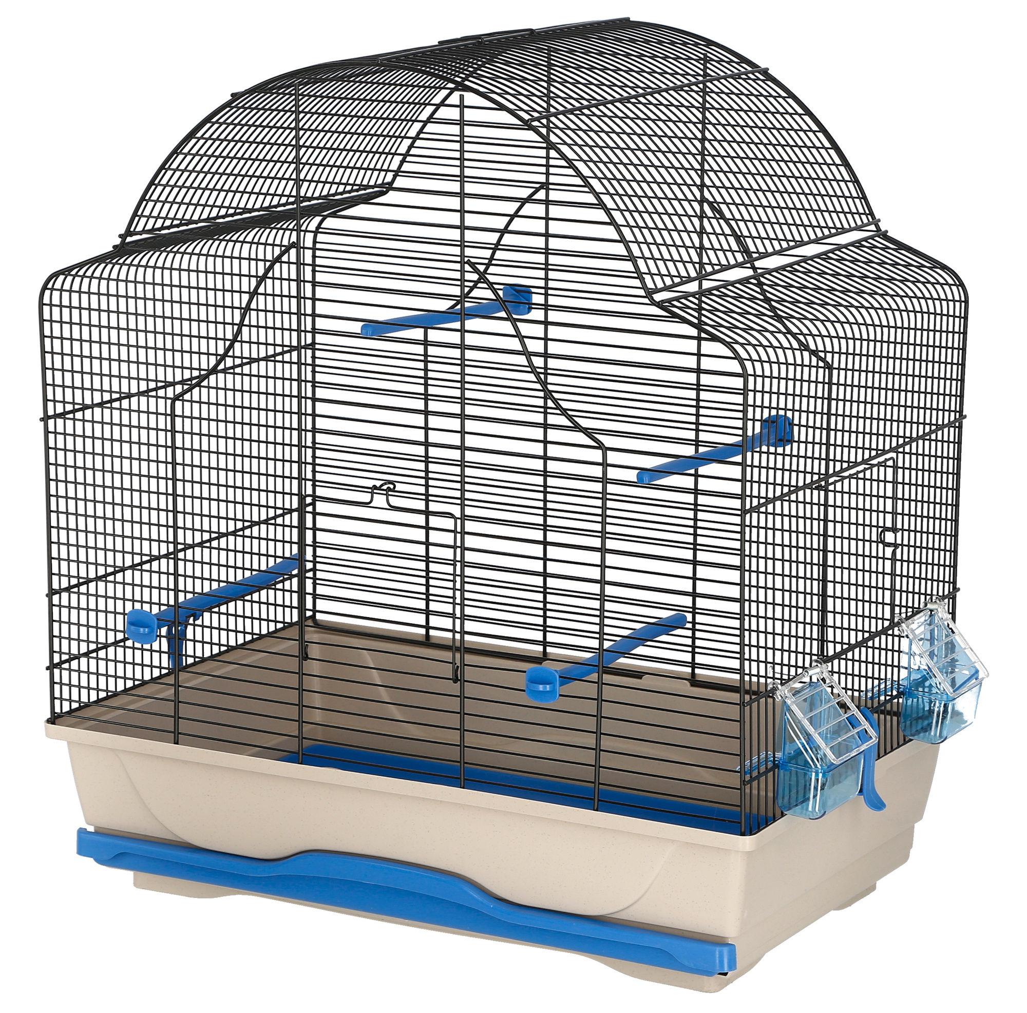 Vogelkäfig Gabbia Daisy 56x36,5x62cm blau/grau