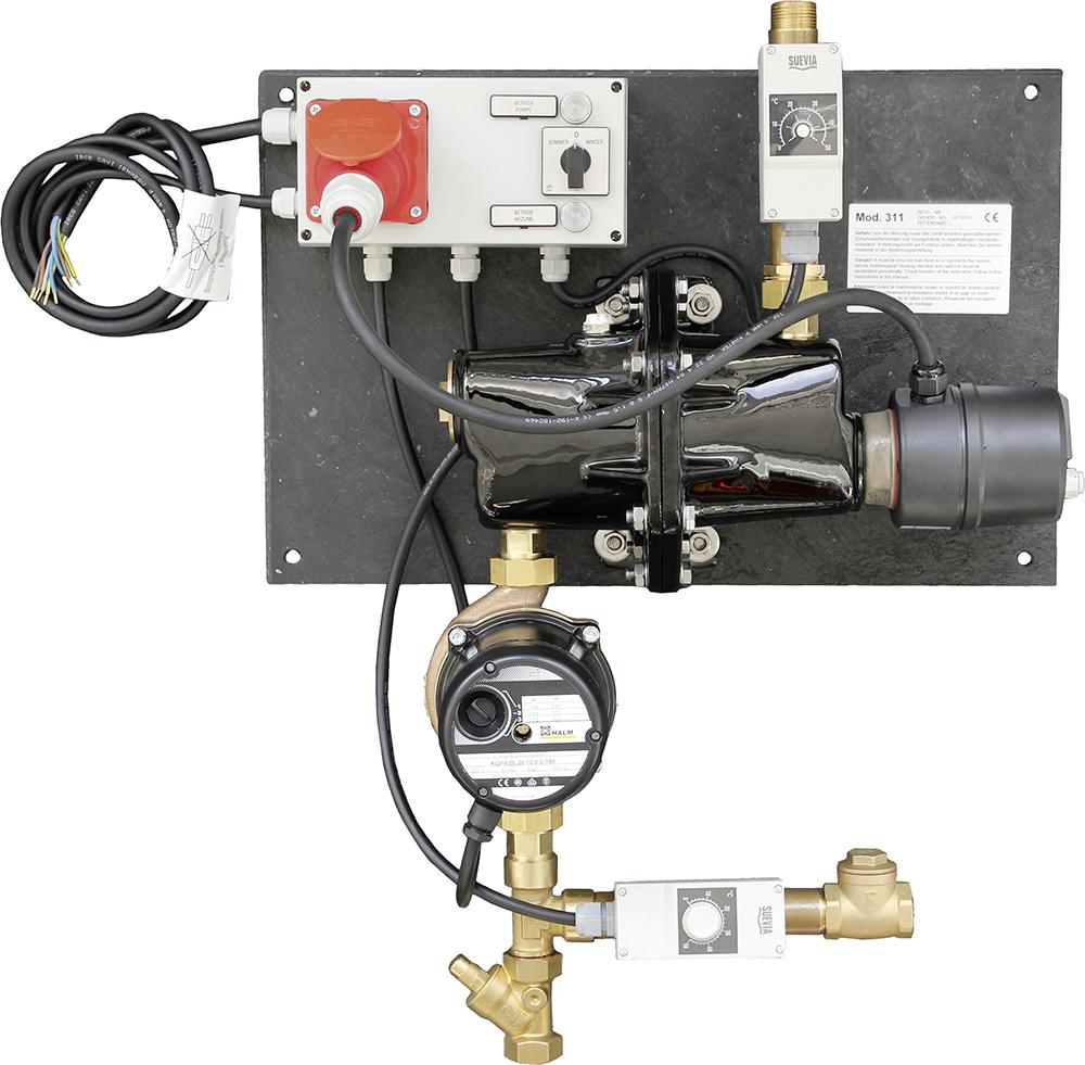 Umlaufheizsystem Mod. 311 mit Rücklauftemperatur-Steuerung