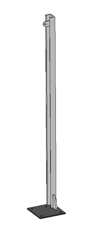 U-Profil für Holzbohlen, L= 1,45 m, Bodenplatte rechts 200x200x8 mm, vz