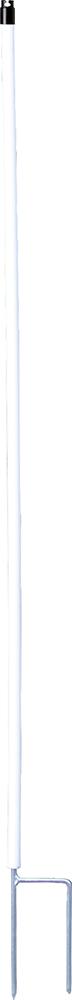 Kunststoffpfahl rund, weiß, d=19mm verz. Doppelspitze (10 Stück / Pack)