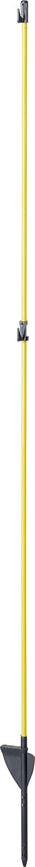 Oval-Glasfiberpfahl, Glasfiberspitze 1,60 m Triffstufe, 2 Isolatoren